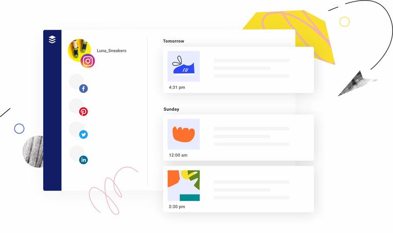Social Media Content Management through Buffer