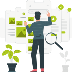 Web content for landing pages